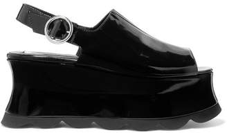 McQ Cecily Patent-leather Platform Sandals - Black