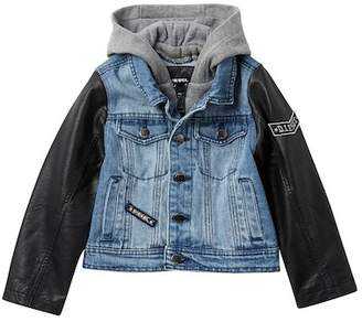 Diesel Denim Jacket with PU Sleeves (Little Boys)