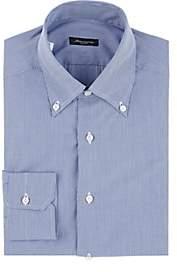 Sartorio Men's Micro-Houndstooth Cotton Shirt - Navy