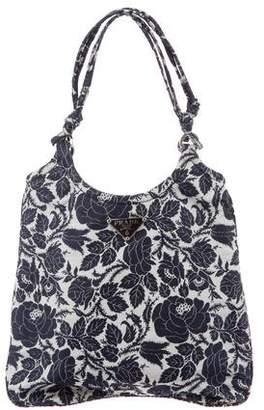 Prada Jacquard Rose Handle Bag