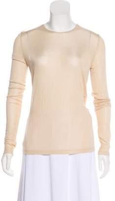 Dion Lee Long Sleeve Semi-Sheer Top