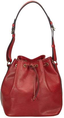 Louis Vuitton Vintage Noe Burgundy Leather Handbag