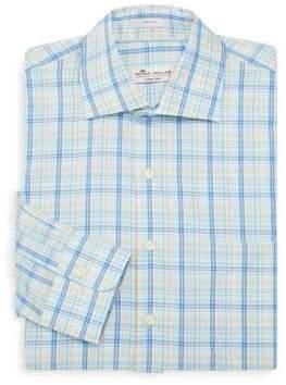 Peter Millar Crown Ease Palazzo Plaid Cotton Dress Shirt