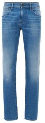 BOSS ORANGE Hugo Boss Cotton Jeans, Regular Fit Orange 24 Barcelona 33/32 Blue