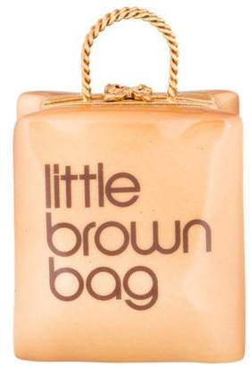 Bloomingdale's Limoges Little Brown Bag Trinket Box