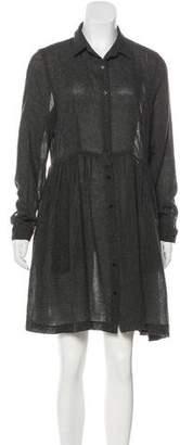 Steven Alan Long Sleeve Button-Up Dress