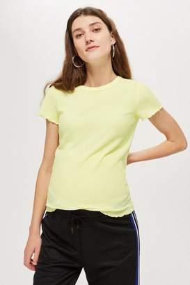 Topshop **Maternity Waffle T-Shirt