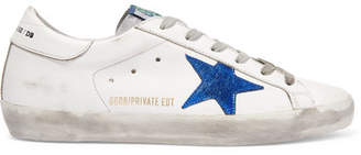 Golden Goose Superstar Distressed Leather Sneakers - Off-white