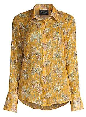The Kooples Women's Floral Button-Down Blouse