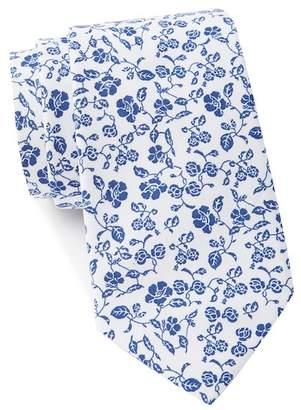 Nautica Moss Floral Tie
