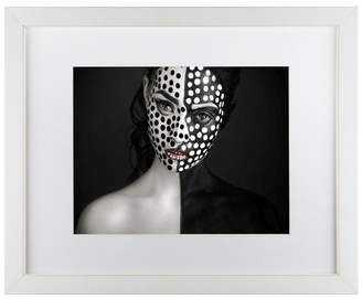 "Yudhistira Yogasara 'Dots' Matted Framed Art - 14"" x 11"" x 0.5"""