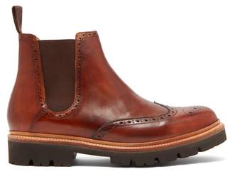 Grenson Arlo Leather Chelsea Boots - Mens - Tan