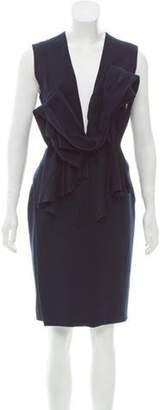 Roksanda Sleeveless Wool Dress w/ Tags Navy Sleeveless Wool Dress w/ Tags
