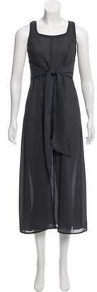 Anna Sui Sleeveless Polka Dot Print Dress