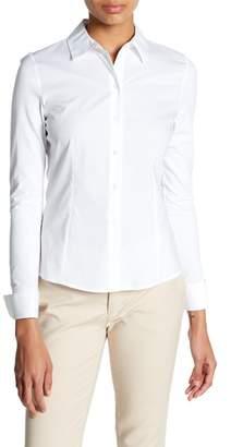 Modern American Designer Long Sleeve Button Down Blouse