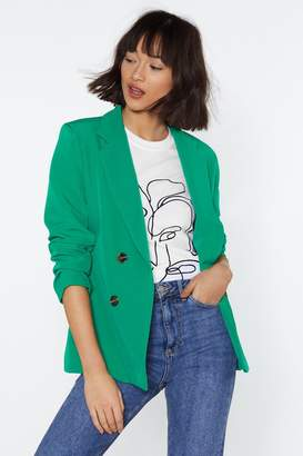 Nasty Gal Suit Yourself Double Breasted Blazer