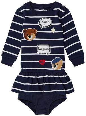 Polo Ralph Lauren Embroidered Stripe Dress with Bloomers
