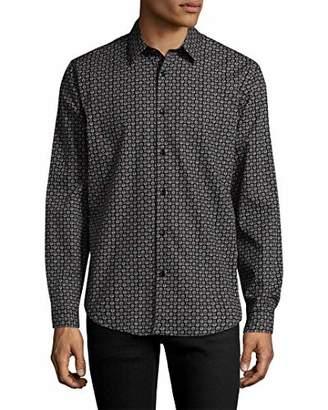 Theory Men's Long Sleeve Mini Printed Dress Shirt