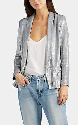 IRO Women's Hadley Sequined Jacket - Silver Size 36 Fr