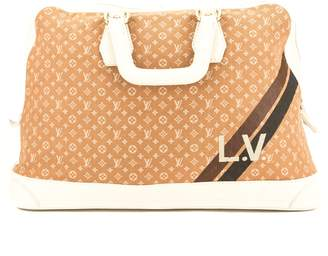 Louis Vuitton Camel Monogram Mini Lin Canvas Initiales Isfahan Bag (Pre Owned)