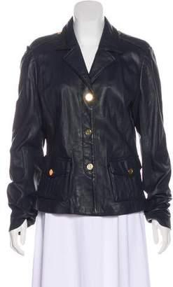 Tory Burch Leather Notch-Lapel Jacket