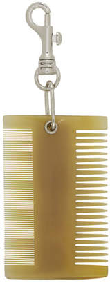 BEIGE Dheygere Horn Comb Keychain