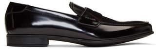 Prada Black Patent Classic Loafers