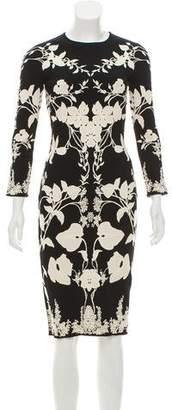 Alexander McQueen Embroidered Midi Dress