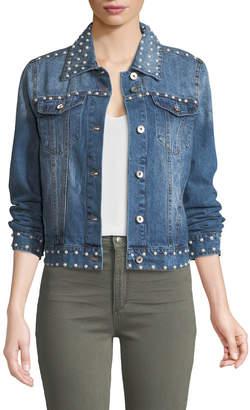 Bagatelle Pearly-Embellished Denim Jacket