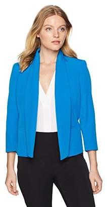 Kasper Women's Petite Solid Stretch Open Jacket with Pockets