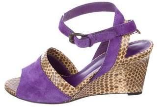 Bottega Veneta Snakeskin Wedge Sandals