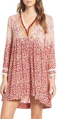 Poupette St Barth Ola Long Sleeve Cover-Up Dress