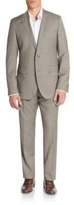 HUGO BOSS Regular-Fit The James Checkered Virgin Wool Suit