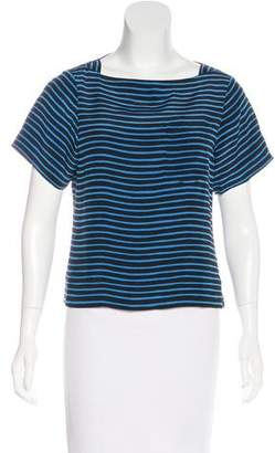 Marc Jacobs Silk Short Sleeve Top
