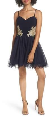 Blondie Nites Applique Sweetheart Fit & Flare Dress
