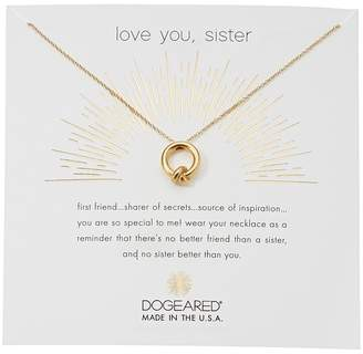Dogeared Love You, Sister, Together Knot Charm Necklace Necklace