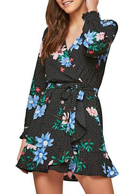 Miss Selfridge Petite Flower and Spot Dress, Multi