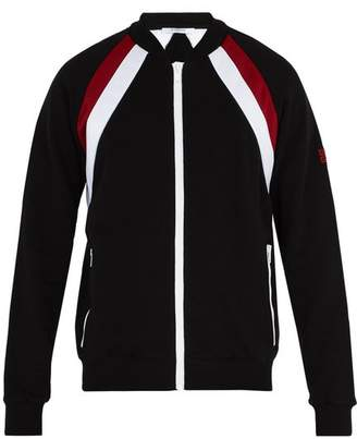 Givenchy Double Stripe Cotton Track Top - Mens - Black