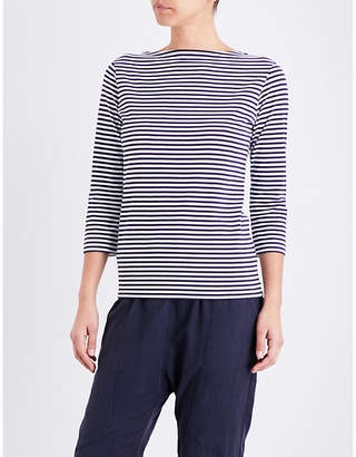 Sunspel Striped cotton-jersey top $74 thestylecure.com
