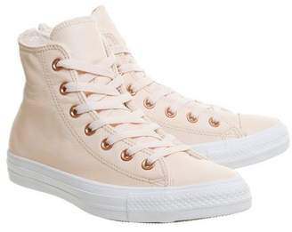 Converse supplied by Office **Converse All Star Hi Leather Trainers
