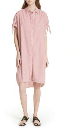 The Great The Tie Sleeve Camper Shirtdress