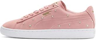 Suede Pearl Studs Women's Sneakers