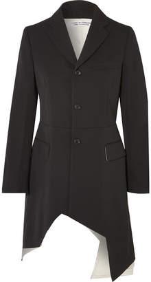 Comme des Garcons Asymmetric Wool-twill Blazer - Black