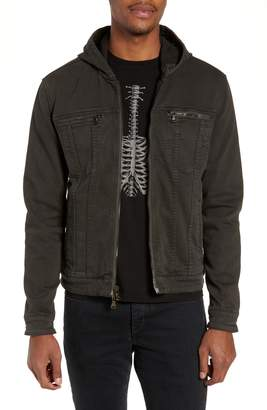John Varvatos Regular Fit Hooded Denim Jacket
