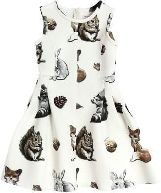MonnaLisa Animals Printed Neoprene Dress