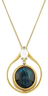 Anthony Nak 18K Labradorite, Prasiolite & Diamond Pendant Necklace