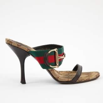 Gucci Brown Cloth Mules & Clogs