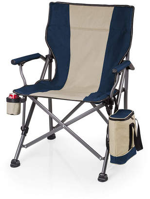 Picnic Time Navy Outlander Folding Camp Chair with Cooler
