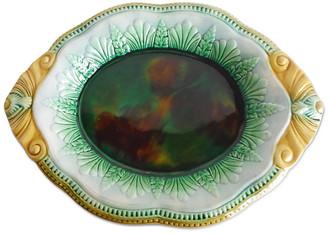 One Kings Lane Vintage 19th English Majolica Bread Platter - majolicadream