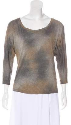 L'Agence Long Sleeve Knit Top